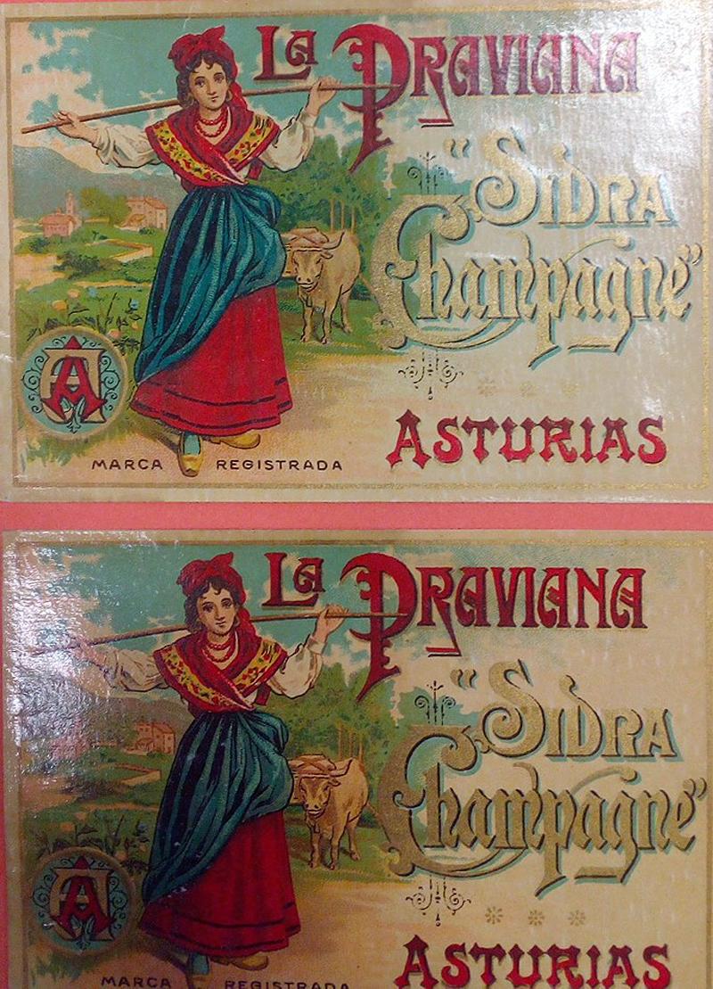 Etiquetas de sidra La Praviana